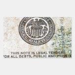 100 billete de dólar (8) rectangular altavoz