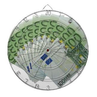 100 billetes de banco euro del dinero