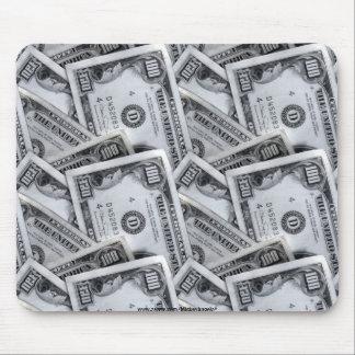 100 billetes de dólar alfombrilla de ratón