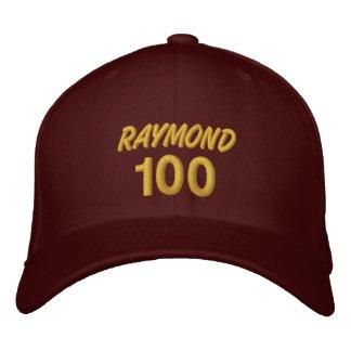 100 Birthday Custom Name GOLD Embroidery V01F Embroidered Baseball Hat