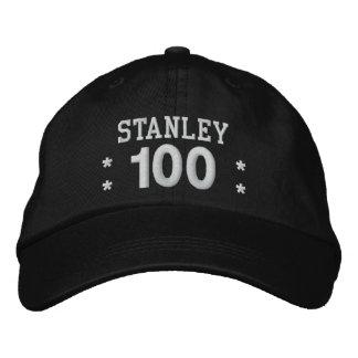 100 Birthday Custom Name WHITE Embroidery V01F2 Embroidered Baseball Hat