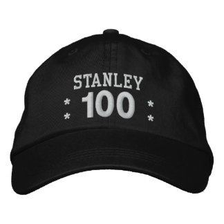 100 Birthday Custom Name WHITE Embroidery V01F2 Embroidered Hat