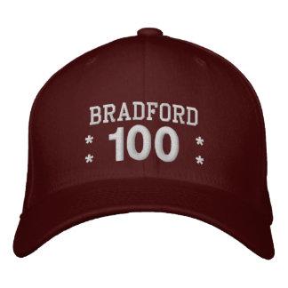 100 Birthday Custom Name WHITE Embroidery V01F4 Embroidered Baseball Cap