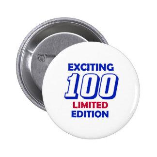 100 Birthday Design 2 Inch Round Button