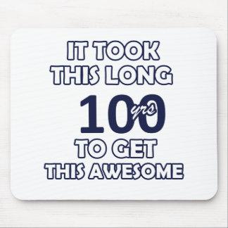 100 birthday design mouse pad