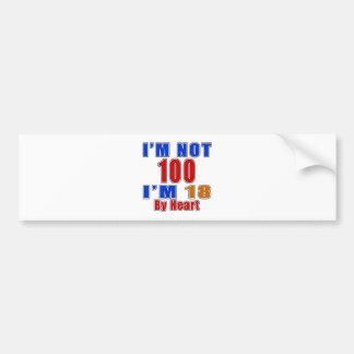 100 Birthday Designs Bumper Sticker