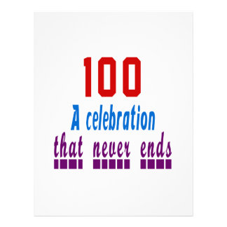 100 birthday designs letterhead