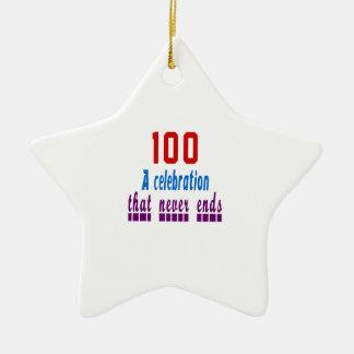100 birthday designs ceramic star ornament
