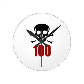 100 Birthday Designs Round Clock