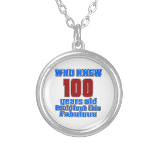 100 Birthday designs Round Pendant Necklace