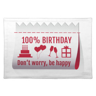 100 birthday fabric tag textile label design placemats