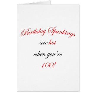 100 Birthday Spankings Card
