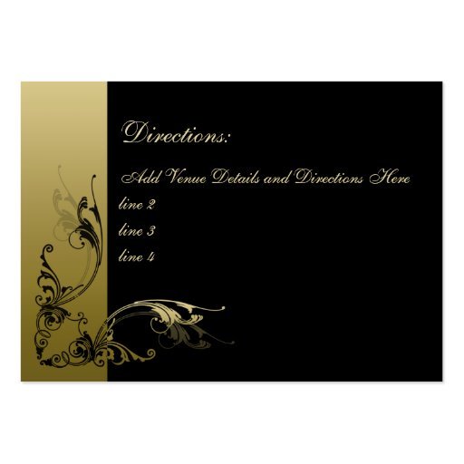 100 Black and Gold Swirls Mini Direction Cards