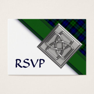 100 Black Watch Tartan with Celtic Badge RSVP Business Card