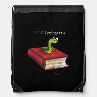100% Bookworm Drawstring Bag
