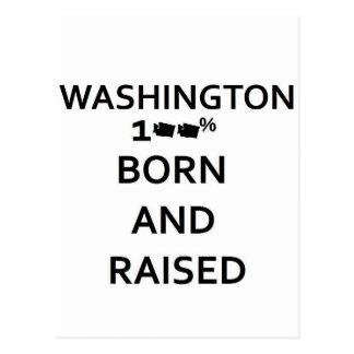 100% Born and Raised Washington Post Cards