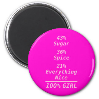 100% Boy and Girl Refrigerator Magnets