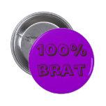 100% brat buttons