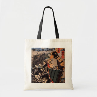 100 Brave Generals Japanese Samurai Painting Budget Tote Bag