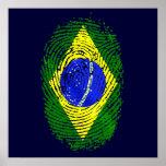 100% Brazilian DNA fingerprint Brasil pride gifts Print