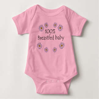 100% Breastfed Baby with Daisies Tee Shirt