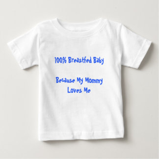100% Breastfed BabyBecause My Mommy Loves Me Baby T-Shirt