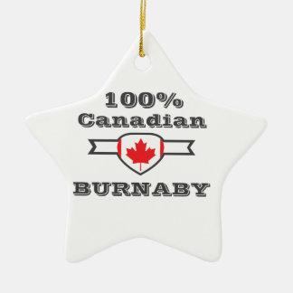 100% Burnaby Ceramic Ornament