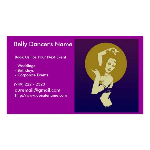 100 Business Cards for Belly Dancers