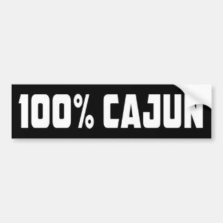 100% Cajun Bumper Sticker