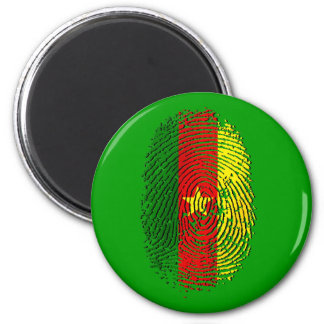 100% Cameroon DNA of a Cameroonian 2 Inch Round Magnet