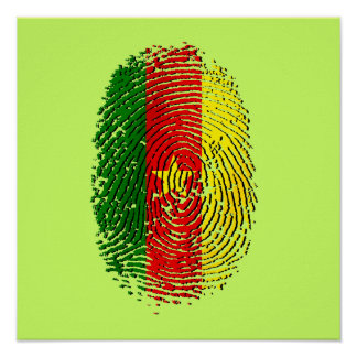 100% Cameroon DNA of a Cameroonian Cameroun Poster