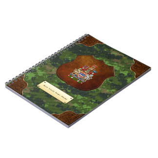 [100] Canada Coat of Arms [3D] Spiral Note Book