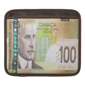 100 Canadian Dollar Bill iPad Sleeve
