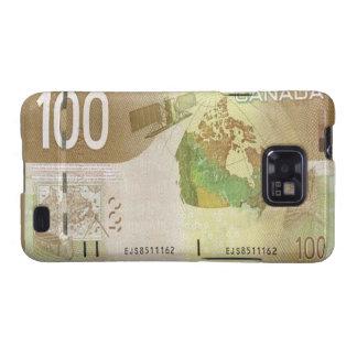 100 Canadian Dollar Bill Samsung Galaxy S Case Galaxy SII Covers