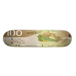 100 Canadian Dollar Bill Skateboard Pro