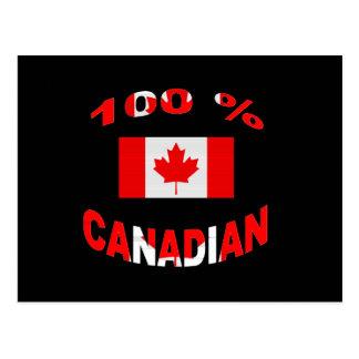 100% Canadian Postcard