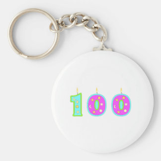 100 (Candles) Keychain