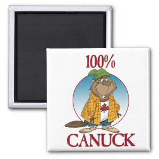 100% Canuck 2 Inch Square Magnet