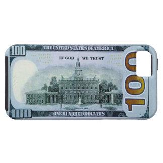 100 caso del iPhone 5 del billete de dólar iPhone 5 Protectores