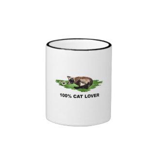 100%  Cat Lover ,, Siamese Mugs