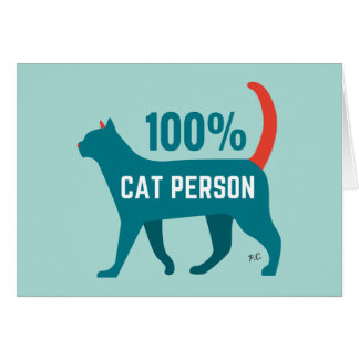 100% Cat Person Card
