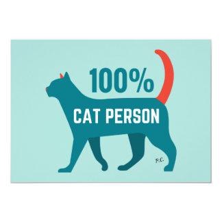 100% Cat Person Invite