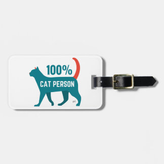 100% Cat Person Luggage Tag