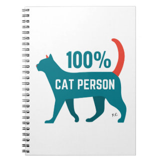 100% Cat Person Notebook