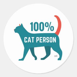 100% Cat Person Sticker