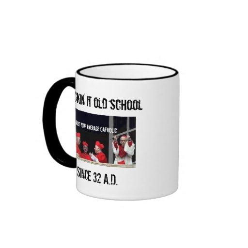100% Catholic Ringer Coffee Mug