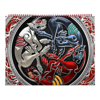 [100] Celtic Treasures - Three Dogs on Silver Calendar
