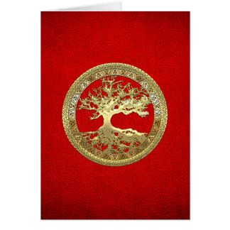 [100] Celtic Tree of Life [Gold] Card