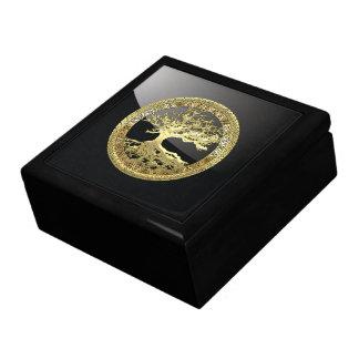 [100] Celtic Tree of Life [Gold] Keepsake Box