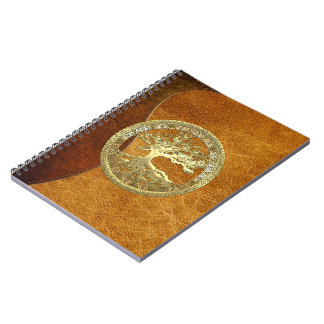[100] Celtic Tree of Life [Gold] Spiral Notebook